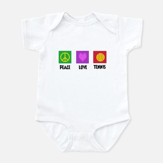 PEACE LOVE TENNIS Infant Bodysuit