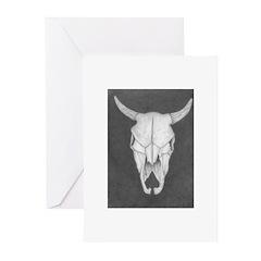 Buffalo Skull Greeting Cards (Pk of 20)