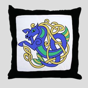 Celtic Hippocampus 1 Throw Pillow