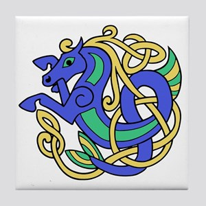 Celtic Hippocampus 1 Tile Coaster
