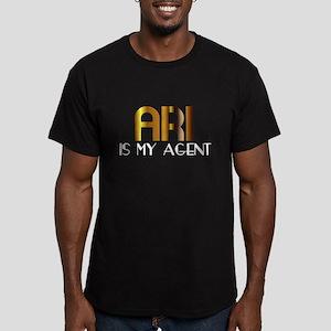 Ari is My Agent Men's Fitted T-Shirt (dark)