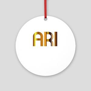 Ari is My Agent Ornament (Round)