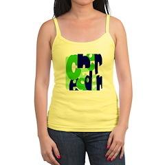 Jumbled Cheerleader Green Blu Jr.Spaghetti Strap