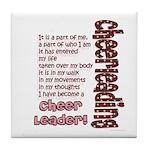 Become a Cheerleader Tile Coaster