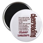 """Become a Cheerleader 2.25"""" Magnet (10 pack)"""
