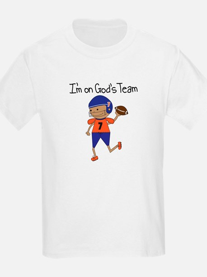 God's Team Football (dark) T-Shirt