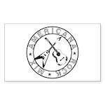 Crossed Guitars Stickers (Rectangle 50 pk)
