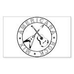 Crossed Guitars Stickers (Rectangle 10 pk)