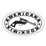 Six Shooter Oval Sticker