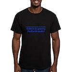 The earth sucks! Men's Fitted T-Shirt (dark)