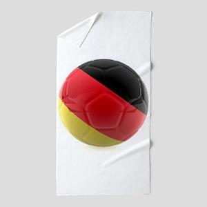 Germany world cup ball Beach Towel