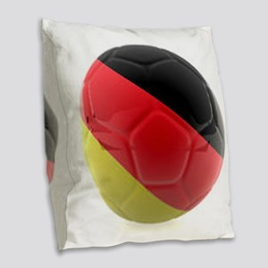 Germany World Cup Ball Burlap Throw Pillow