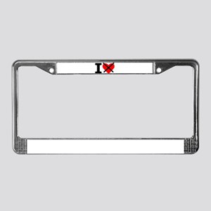 I hate License Plate Frame