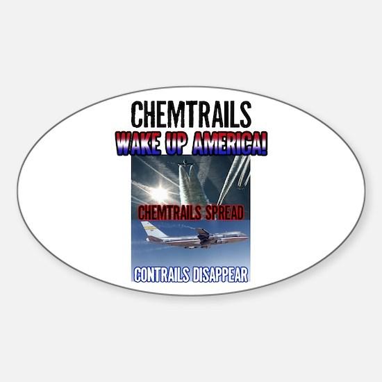 Chemtrails Oval Sticker (10 pk)