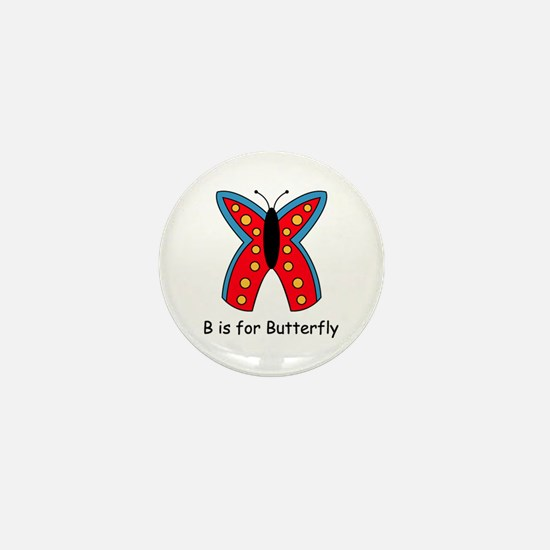 B is for Butterfly Mini Button