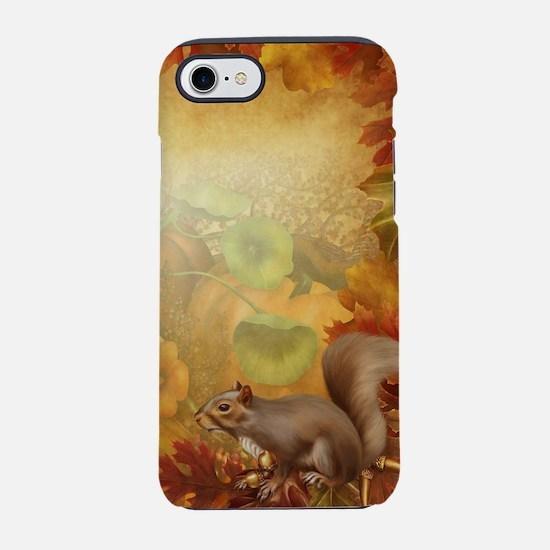 Thanksgiving Squirrel iPhone 7 Tough Case