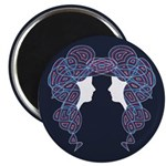 """Twin Patriots 2.25"""" Magnet (100 pack)"""