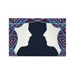 Twin Patriots Rectangle Magnet (100 pack)