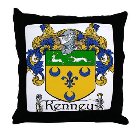 Kenney Coat of Arms Throw Pillow