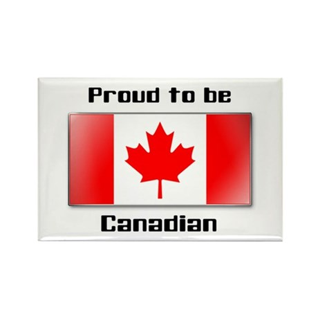 Proud to be Canadian Rectangle Magnet