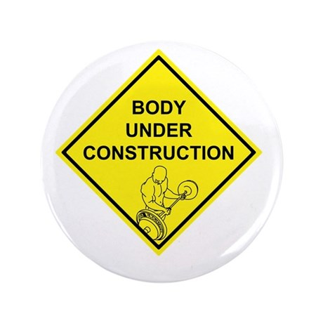 "Body Under Construction 3.5"" Button (100 pack)"
