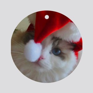 Ragdoll Cat Christmas Ornament (Round)