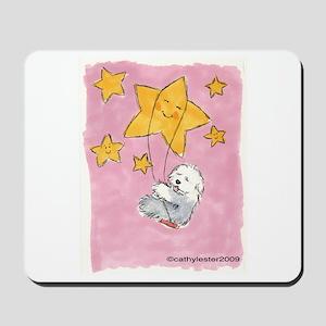 Old English Sheepdog Star Mousepad