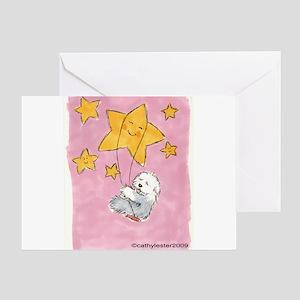 Old English Sheepdog Star Greeting Card