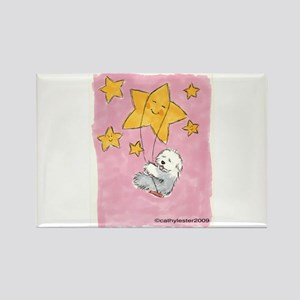 Old English Sheepdog Star Rectangle Magnet