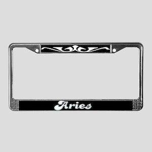 Retro Zodiac Aries License Plate Frame