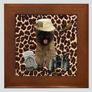 Safari Cairn Terrier Framed Tile