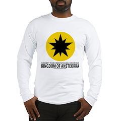 Ansteorra star with url Long Sleeve T-Shirt