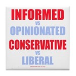 Informed vs Opinionated Tile Coaster