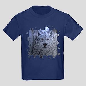 Gray Wolf Kids Dark T-Shirt