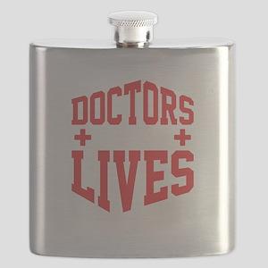 Doctors Save Lives Medical Professional Medi Flask