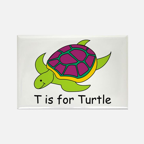T is for Turtle Rectangle Magnet