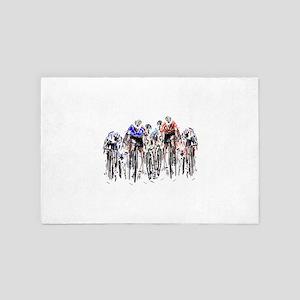 Cyclists 4' x 6' Rug