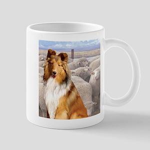 Shelty with Sheep Mug