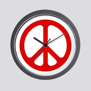 Red CND logo Wall Clock