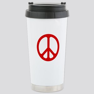 Red CND logo Stainless Steel Travel Mug