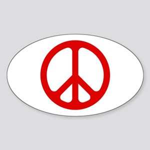 Red CND logo Oval Sticker