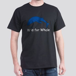 W is for Whale Dark T-Shirt