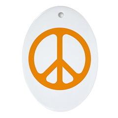 Orange CND logo Oval Ornament