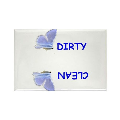 BLUE BUTTERFLY DISHWASHER Rectangle Magnet (10 pac