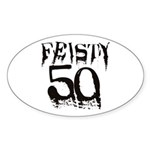 50th Birthday Oval Sticker