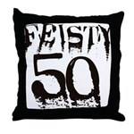50th Birthday Throw Pillow