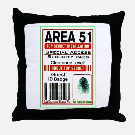 Cute Area 51 Throw Pillow