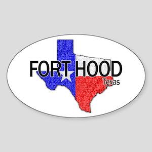 Fort Hood 2 Oval Sticker
