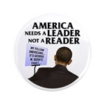 """And Barack Obama - Reader not 3.5"""" Button (100 pac"""