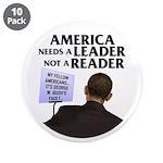 "And Barack Obama - Reader not 3.5"" Button (10 pack"